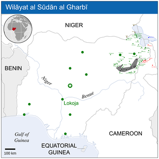 Map of Boko Haram's territorial control on 10 April 2015, over 2 months after the start of the 2015 West African offensive