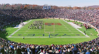 The Yale Bowl, the college football stadium located near Yale University