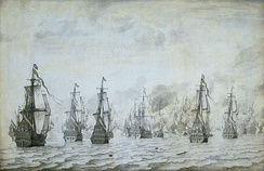 The naval battle against the Spanish near Dunkerque, 18 February 1639