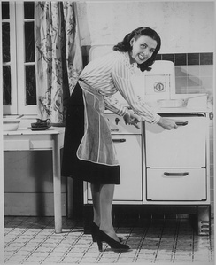 Gas stove in the 1940s