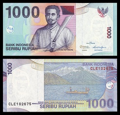An old one thousand Indonesian Rupiah banknote
