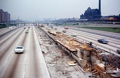Sox–35th under construction in 1968.
