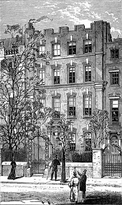 4 Cheyne Walk, shown here in 1881, was briefly the home of George Eliot