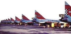 57th Fighter Interceptor Squadron F-102s at Keflavik Airport, 1973