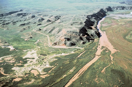 The Canadian River and the Alibates Flint Quarries National Monument. The Antelope Creek People lived mostly on terraces overlooking the river or in side canyons with springs.