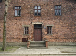Block 10, Auschwitz I, where medical experiments were performed on women