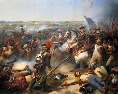The French Revolutionary Army defeated the combined armies of Austrians, Dutch and British at Fleurus in June 1794.