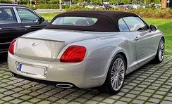 2009 Bentley Continental GTC Speed rear view