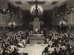 Late in the 17th century Treasury Ministers began to attend the Commons regularly. They were given a reserved place, called the Treasury Bench, to the Speaker's right where the prime minister and senior Cabinet members sit today.