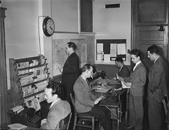 Journalists at work in Montreal in the 1940s