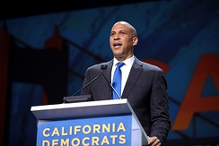 Booker campaigning for President in San Francisco, California