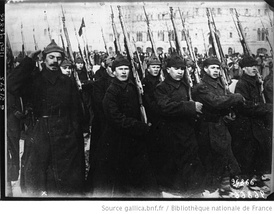 A parade Corps of the Red Army in Moscow the year 1922