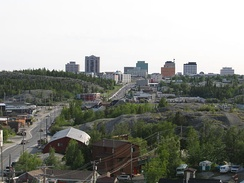 Looking towards downtown Yellowknife from Old Town