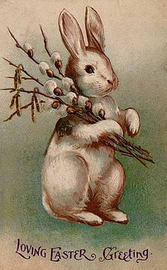 An Easter postcard from 1907 depicting a rabbit