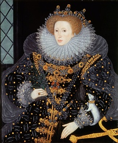 Elizabeth I, in whose reign the Thirty-nine Articles were passed.