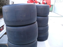 wide tyres without any grooves cut in them