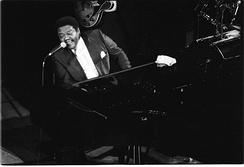 Fats Domino in concert at Deauville (Normandy, France) in 1992.