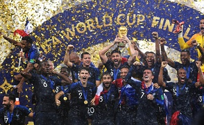 France celebrating their victory of the 2018 FIFA World Cup