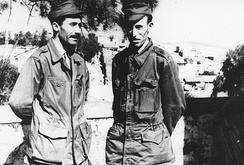 Houari Boumediène, the leader of the National Liberation Army and future President of Algeria, during the war