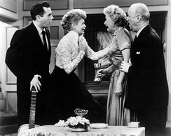"Desi Arnaz, Lucille Ball, Vivian Vance, and William Frawley, from the 1955 episode ""Face to Face"""