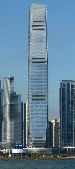 The Ritz-Carlton, Hong Kong occupies floors 102 to 118 of the International Commerce Centre