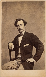 A Carte de visite of John Wilkes Booth