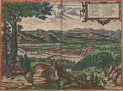 A depiction of the town in 1594