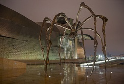 Bourgeois's Maman sculpture at the Guggenheim Museum in Bilbao
