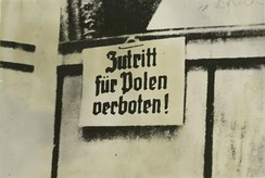 "German warning in German-occupied Poland 1939 – ""No entrance for Poles!"""