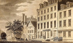 Old Dutch house on Broad Street, 1831