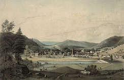 An 1844 drawing of Prattsville.