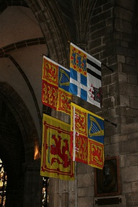 Royal Banners hanging in St Giles High Kirk