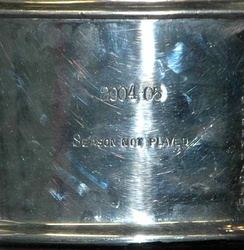 "The Stanley Cup acknowledges the cancelled 2004–05 season with the words, ""2004–05 Season Not Played"" due to the lockout."