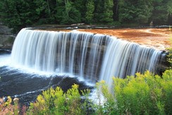 Tahquamenon Falls in the Upper Peninsula of Michigan.