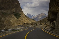Karakoram Highway ahead of Juglot, Gilgit