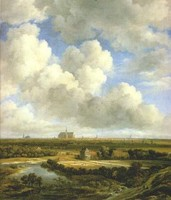 Jacob van Ruisdael, View of Haarlem; Ruisdael is a central figure, with more varied subjects than many landscapists.