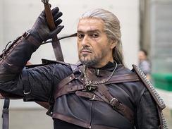 Косплей Геральта, главного героя серии книг и игр «Ведьмак»