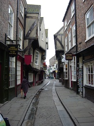 """The Shambles,"" a medieval street in York."
