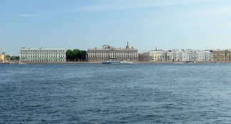 The Palace Quay, as seen from the Peter and Paul Fortress
