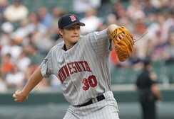 Scott Baker was the Twins' Opening Day starting pitcher in 2010.