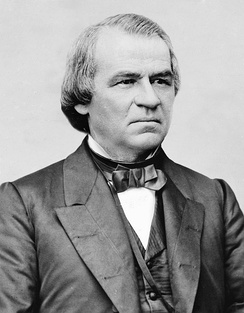 1864 National Union Party vice presidential nominee, Andrew Johnson