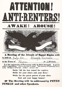 Poster announcing an Anti-Rent meeting in the town of Nassau, New York