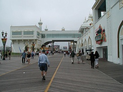 US 40 terminates in Atlantic City, two blocks from its famous Boardwalk.