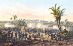 Depiction of the Battle of Veracruz during the Mexican–American War