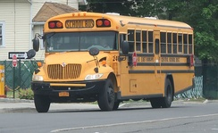 International 3300 bus chassis with school bus body