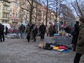 A popular flea market takes place every Sunday on Boxhagener Platz.