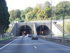 The Brynglas Tunnels in Newport are the only twin–bored tunnels in the UK motorway network