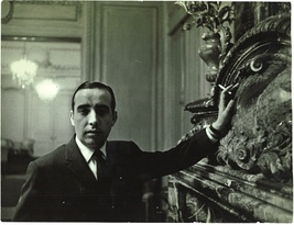 Cesar Balsa at The St. Regis after purchasing the hotel, c. 1960s.