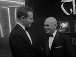Charlton Heston and Yul Brynner at the New York premiere