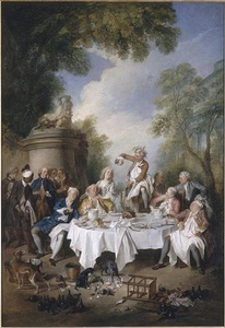 """Luncheon with Ham"" by Nicolas Lancret (1735)"